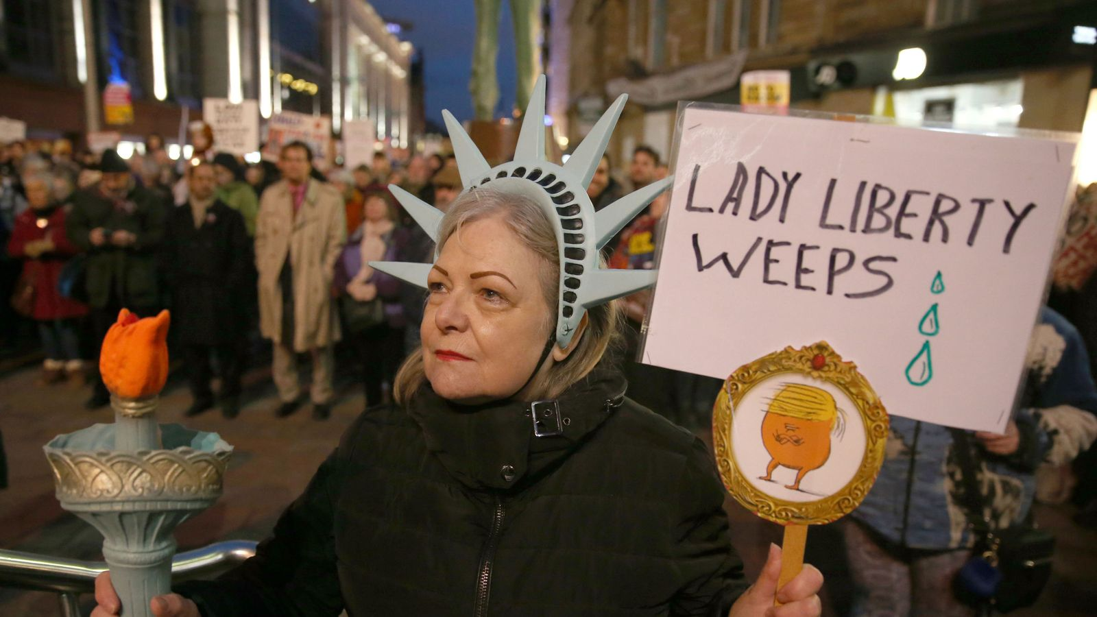 Hundreds gathered at protests in Glasgow