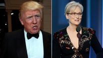 Donald Trump shared his response to Streep's Golden Globes speech on Twitter