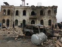 A bomb blast in Azaz, northwest Syria, claimed 43 lives on Saturday