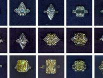 Some of the jewellery stolen in the robbery at a Graff store in Mayfair