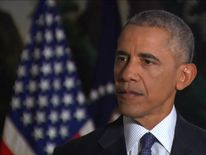 Barack Obama speaks after four people were charged