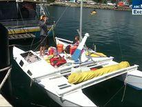 Mr Langdon claimed the rudder of his catamaran had been damaged