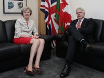 Prime Minister Theresa May with the First Minister of Wales, Carwyn Jones AM in July