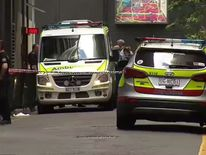 Emergency services at the scene. Pic: 7 News