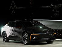 Faraday Future's FF 91 prototype electric crossover vehicle