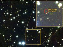 Scientists's have pinpointed the Fast Radio Burst's host galaxy