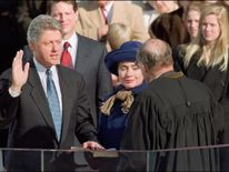 Bill Clinton is sworn in on 20 January 1993