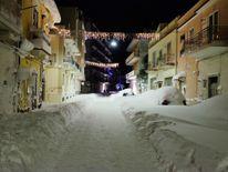 Santeramo in Colle after snowfalls near Bari in the Puglia region in the south of Italy