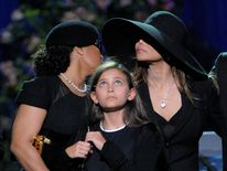 Singer Janet Jackson and Paris at Michael Jackson's memorial service