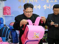 North Korean leader Kim Jong Un visits a newly built Pyongyang bag factory