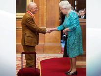Sir John Hurt was awarded a knighthood by the Queen two years ago