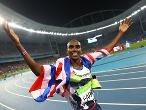 Mo Farah has condemned Donald Trump's policy of 'hate and isolation.'