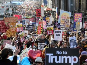 The women's protest in London