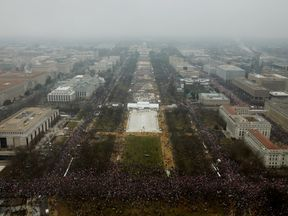 Protesters fill the National Mall in Washington DC