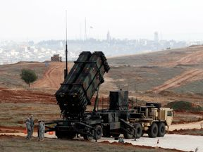 A US Patriot missile system at a Turkish military base. File pic
