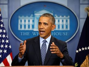 US President Barack Obama holds his final news conference
