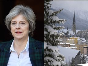 Theresa May and Davos in Switzerland