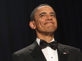 Barack Obama at the White House Correspondents Dinner 2011
