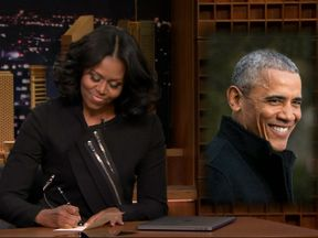 Michelle Obama on the Tonight Show. Pic: The Tonight Show