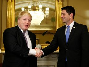 Boris Johnson meets House Speaker Paul Ryan