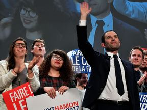 Benoit Hamon during the last days of campaigning