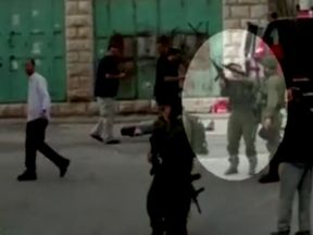 Azaria was seen cocking his gun before shooting al-Sharif