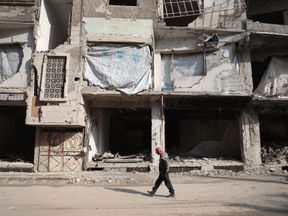 The rebel-held town of Douma, on the eastern outskirts of Damascus