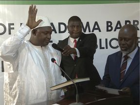 Adama Barrow is sworn in as President of The Gambia in Senegal