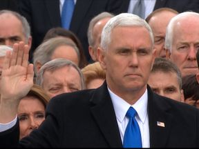 Mike Pence takes oath of office