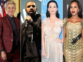 Ellen DeGeneres, Drake, Katy Perry and Kerry Washington