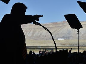Donald Trump speaks at a rally in Colorado