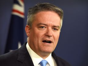 Australia's Minister for Finance Mathias Cormann