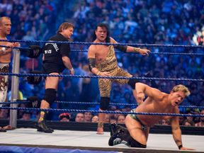 Jimmy 'Superfly' Snuka in action during WrestleMania 25