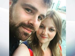 Cameron Logan and his girlfriend Rebecca were caught in the fire. Pic: Rebecca Williams/Facebook