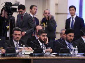 Mohammad Alloush at the Syria peace talks in Astana