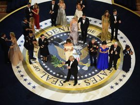 Donald Trump danced with members of the military and their families at one inaugural ball