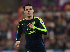 Granit Xhaka was questioned by police following the incident