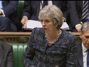 Theresa May during Prime Minister's Questions