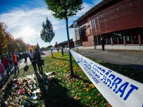 A police tape in Sweden. File picture