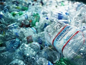 Les than half of plastic bottles in the UK are recycled after being used