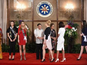 Philippines' Duterte hopes Miss Universe meeting 'will never end'