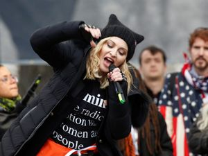 Madonna defends blow up White House 'metaphor' at Trump march
