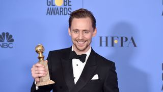 Actor Tom Hiddleston, winner of Best Actor in a Miniseries or Television Film for 'The Night Manager,' poses in the press room during the 74th Annual Golden Globe Awards at The Beverly Hilton Hotel on January 8, 2017 in Beverly Hills, California