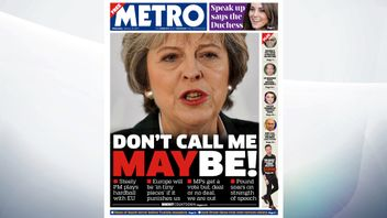 'Steely' Theresa May is playing hardball with the EU over Brexit, the Metro says