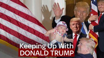 A compilation of photos of Donald Trump