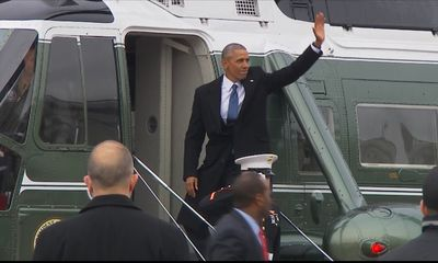 Barack Obama waves goodbye to life as president
