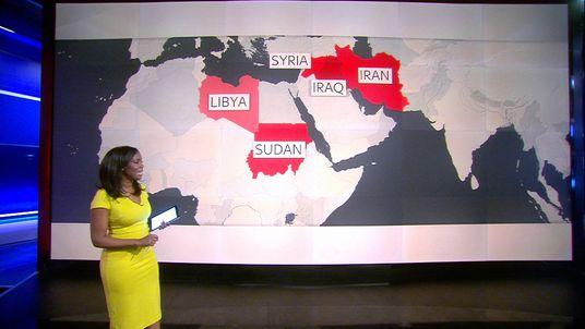 Countries impacted by Trump's visa ban order
