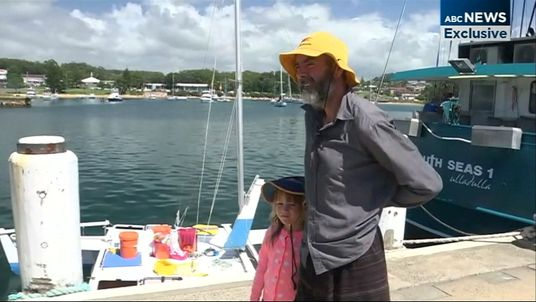Alan Langdon and his daughter Que were at sea for more than a month