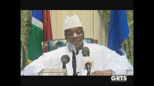 Former president of The Gambia, Yahya Jammeh announces his resignation from office.