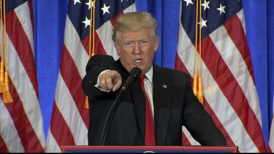 Donald Trump denies specific organisation a question at news conference